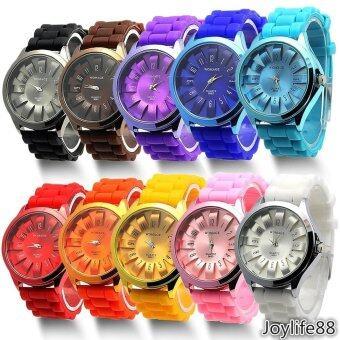 Colorful Womens Sport Geneva Jelly Wrist Watch Silicone Quartz\nSports Watches - intl