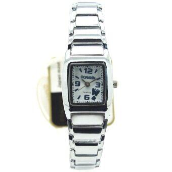 ซื้อ/ขาย CONAVIN นาฬิกาขัอมือผู้หญิง ระบบ Quartz เรือนเหล็กสายเหล็กเลสมือ (หน้าปัดทรงเหลี่ยม) รุ่น CONF-001F