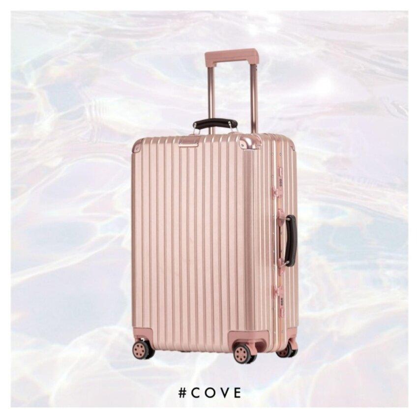 Cove Luggage กระเป๋าเดินทางล้อลากขนาด 29 นิ้ว รุ่น New Titanium Series Rose Gold