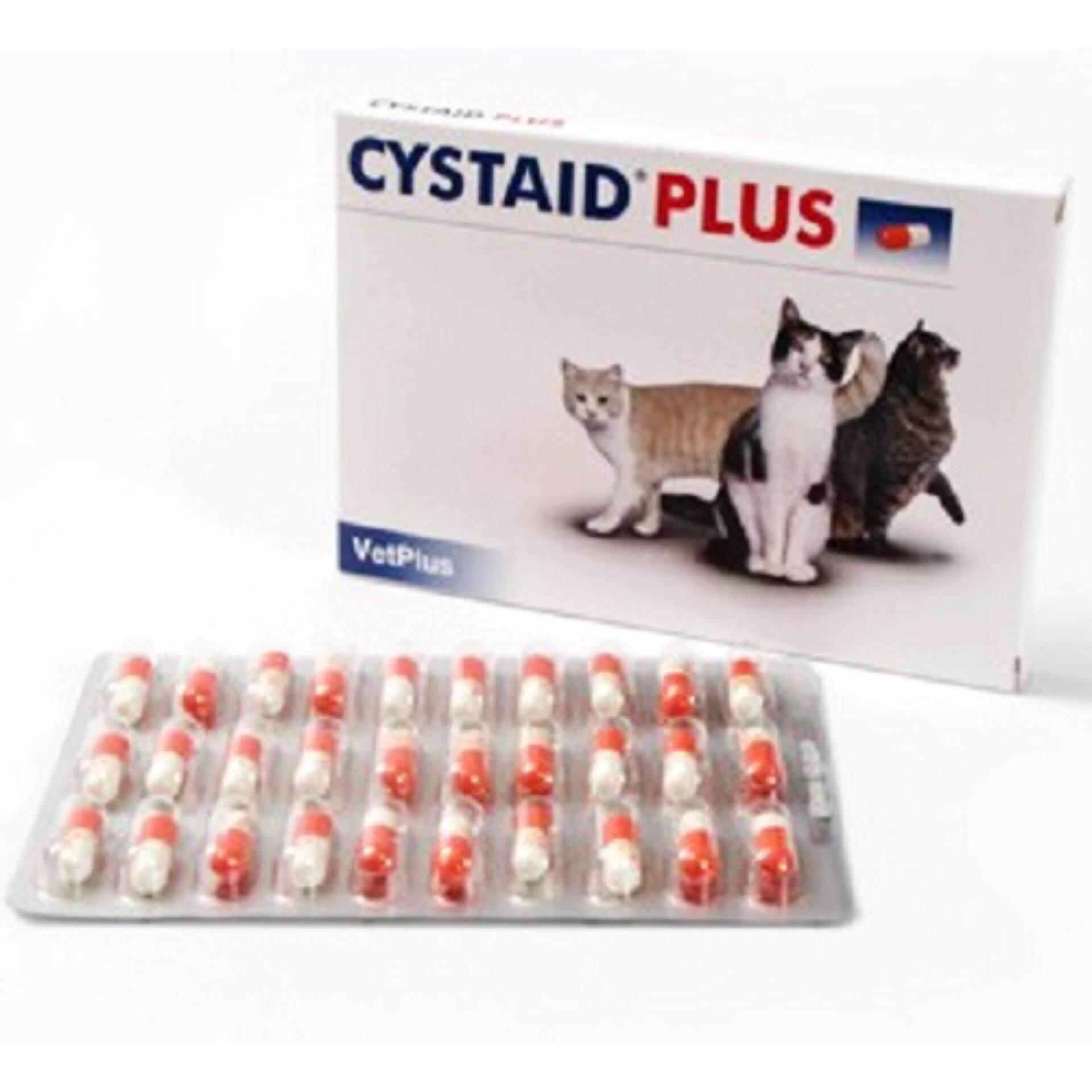 ขายดีมาก! Cystaid Plus CAT (30 แคปซูล) อาหารเสริมแมว โรคระบบทางเดินปัสสาวะ  EXP: 04/2020 +ส่งฟรี KERRY+