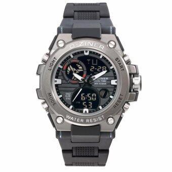 ซื้อ/ขาย D-ZINER นาฬิกาข้อมือชาย 2 ระบบ ขีดชั่วโมง,เข็มสีขาว สายพลาสติก (สีดำ)