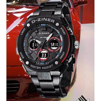 2561 ฟรีกล่องเซ็ต! D-ZINER DZ03BLR Waterproof Watch