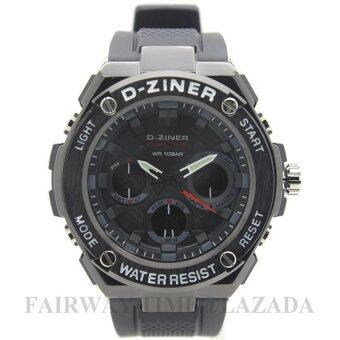 2561 D - ZINER นาฬิกาข้อมือแนว SPORT ชาย 2 ระบบ(ANALOG and DIGITAL)กันนํ้า100% รุ่น DZST-011