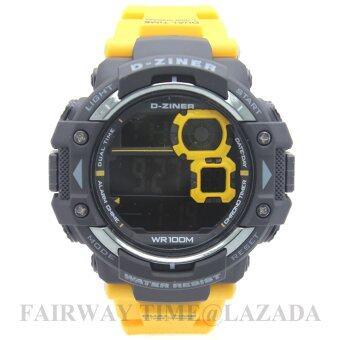 ซื้อ/ขาย D - ZINER นาฬิกาข้อมือแนว SPORT ชาย ระบบ DIGITAL สายยาง กันนํ้า 100% รุ่น DZ781-002