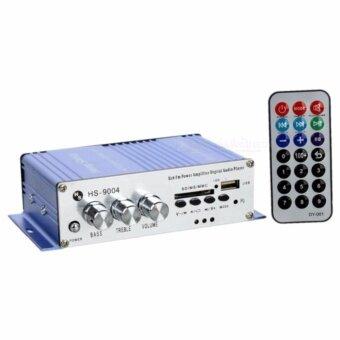 เครื่องขยายเสียงมอเตอร์ ไซค์/รถยนต์/เรือ DC12V 400วัตต์ USB/SD\nAmplifier 2ch รุ่น HS-9004