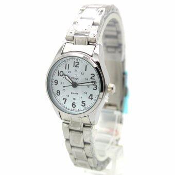 ซื้อ/ขาย DEBOR นาฬิกาข้อมือสุภาพสตรี สายเหล็ก หน้าปัดสีขาว - DB0011 (Silver-White)