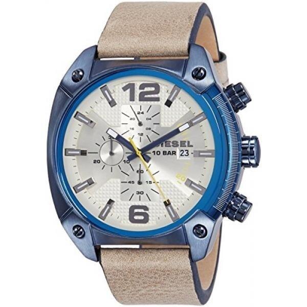ยี่ห้อไหนดี  นครพนม ดีเซลบุรุษ DZ4356 Overflow จอแสดงผลแบบแอนะล็อกนาฬิกาควอตซ์สีน้ำตาล - สนามบินนานาชาติ