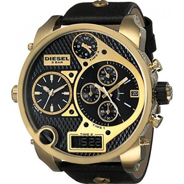 สอนใช้งาน  ชลบุรี ดีเซลบุรุษ DZ7323 MR. Daddy Analog Display นาฬิกาควอตซ์นาฬิกาข้อมือสีดำ - INTL