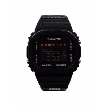 *** ขายดี ยอดนิยม *** นาฬิกาข้อมือ ชาย/หญิง DIGITAL CHRONOGRAPH by HOOPS-1232ME สีดำเข้ม สายยางซิลิโคน สวยเฉียบ ฟังก์ชั่นครบทุกการใช้งาน >>> By D-FRIDAY