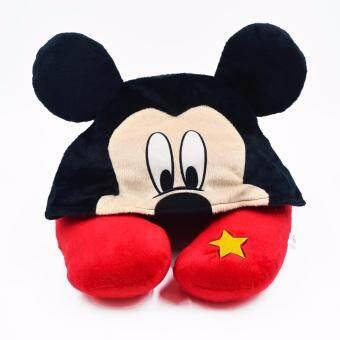 Disney หมอนรองคอ Mickey แบบมี Hood