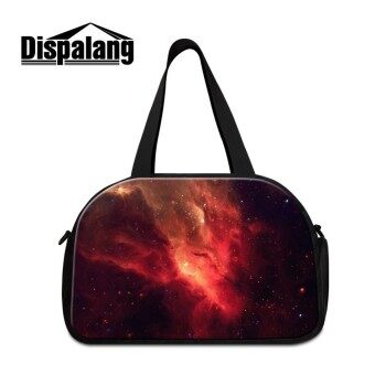Dispalang Men Women Luggage Travel Bags Large Multifunctional Luggage Shoulder Bag Galaxy Star Universe Casual Travel Duffel Bag - intl