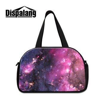 Dispalang Portable Waterproof Travel Bag Glaxary Star Universe Women Luggage Bags Tote Large Capacity Travel Duffle Shoulder Bag - intl
