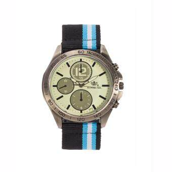 2561 DM นาฬิกาสายนาโต้ รุ่น RINNADY G013 สีดำฟ้า