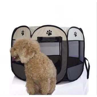 กรงสนามรงสุนัข พับได้ Elitefield Dog Cage Size 73CMx73CMX43CM -สีเทา/gray