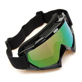 การแข่งขันจักรยานยนต์วิบากออฟโรดทดลอง Enduroมอเตอร์ไซค์วิบากหมวกแว่นตาแว่นตามอเตอร์ไซค์สีดำ