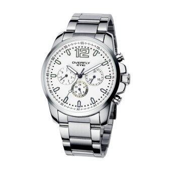 EYKI นาฬิกาข้อมือชาย รุ่น OVERFLY 3 หน้าปัด สายสแตนเลส (สีขาว)