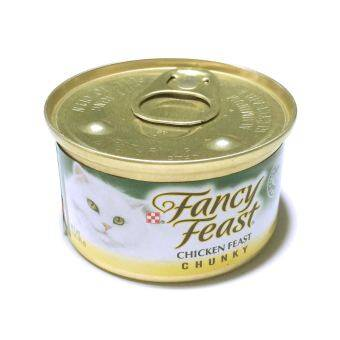 Fancy Feast Gourmet Cat Food-Chunky Chicken Feast 85 g 6 canned อาหารแมวโต (050000426942-6)