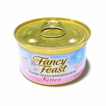 Fancy Feast Gourmet Cat Food-Kitten Tender Ocean Whitefish Feast 85 g 6 canned อาหารลูกแมว (050000574988-6)