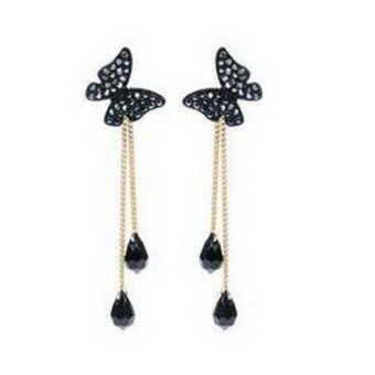 Fashion Beautiful butterfly tassel stud Dangle long earrings