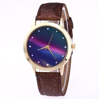 Fashion Casual Womens Quartz Wristwatch Leather Womens Bracelet Watches Lovers Watch Reloj Mujer Aurora Polaris Creative Gift - intl