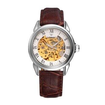 FNGEEN กันน้ำกลโครงกระดูกอัตโนมัติ Leahter สายผู้ชายหรูอัตโนมัติSelf-Wind นาฬิกาข้อมือ P 8866 - นานาชาติ