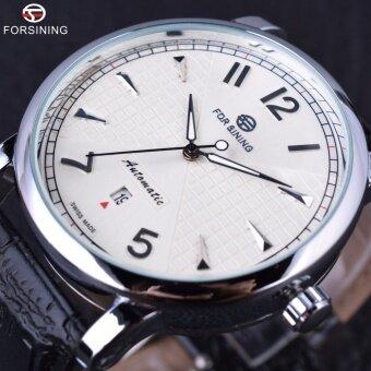 FORSINING Men Business Classic Simple Design Calendar Display WhiteDial Male Wrist Watches Men Automatic Clock Luxury