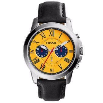 ราคา Fossil FS5059 นาฬิกาข้อมือผู้ชาย สายหนัง สีดำ