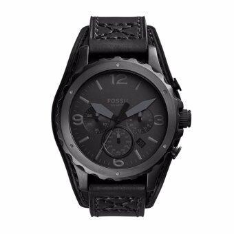 Fossil JR1510 นาฬิกาข้อมือผู้ชาย สายหนัง สีดำ