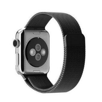 GAKTAI Replacement Milanese Magnetic Loop Stainless Steel StrapWatch Bands For Apple Watch iWatch 42MM - Black ...