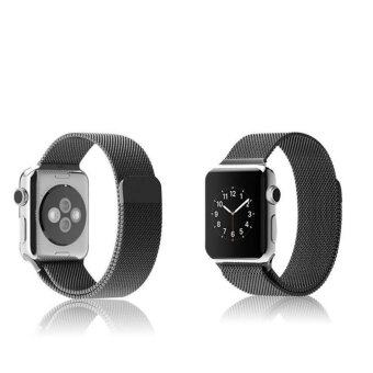 ... GAKTAI Replacement Milanese Magnetic Loop Stainless Steel StrapWatch Bands For Apple Watch iWatch 42MM - Black