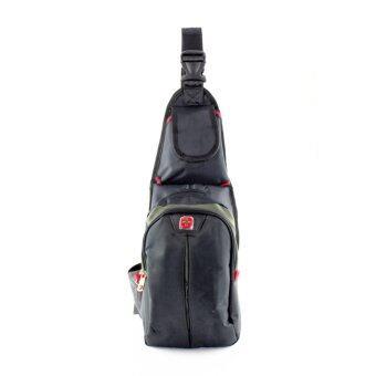 สนใจซื้อ GL - กระเป๋าสะพายหน้า/หลัง รุ่น-10 (GREY-GREEN)