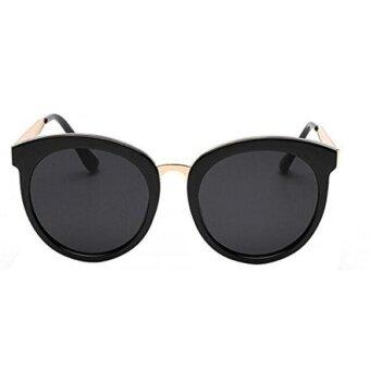GAMT Round Sunglasses Frame Sunglasses Oversize Eyewear for Women Retro Tide Black - intl