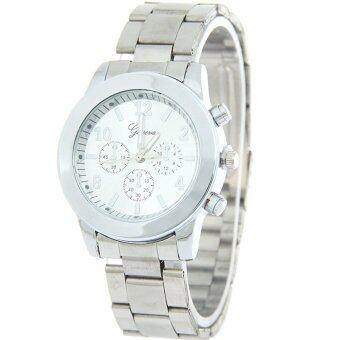 GENEVA Business นาฬิกาข้อมือผู้หญิง สีเงิน สายสแตนเลส รุ่น BB0002(Silver)