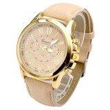นาฬิกผู้หญิงเจนีวา Beige - INTL