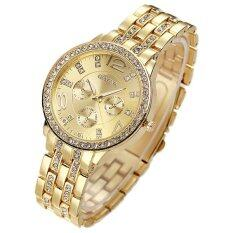 Geneva Women's Rose Golden Stainless Steel Strap Watch นาฬิกาข้อมือ(Gold)