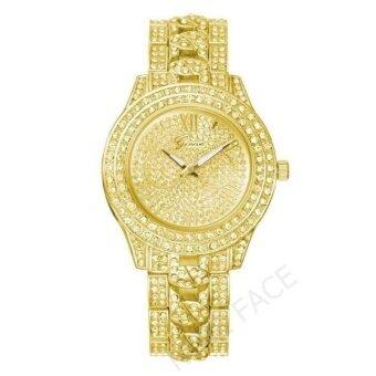 Geneva นาฬิกาข้อมือผู้หญิง สวยหรู รุ่น WP8527 ( Gold) แถมซองนาฬิกาสุดหรู