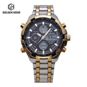 ของแท้นาฬิกาผู้ชายนาฬิกาควอตซ์ชายนาฬิกากลางคืนนาฬิกากันน้ำอิเล็กทรอนิกส์อเนกประสงค์พลเมือง
