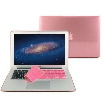 GMYLE เคส MacBook Air 13 นิ้ว พร้อม Keyboard Cover (สีชมพู)