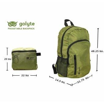 Golyte กระเป๋าเป้สะพายหลังพับได้ Foldable Daypackผ้ากันน้ำสำหรับเดินทาง กีฬา นำ้หนักเบา สีเขียว - 5