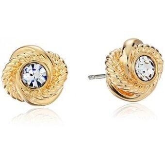 เสนอราคา GPL/ kate spade new york Infinity and Beyond Clear/Gold Knot Stud Earrings/ship from USA