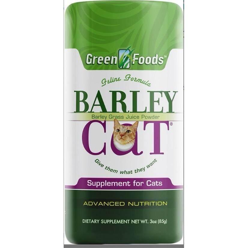 สุดยอดสินค้า!! Green Foods Barley Cat Grass หญ้าบาร์เล่ย์แมว ชนิดผง  เสริมระบบย่อย ดูดซึม ไฟเบอร์สูง Detox ลำไส้  ป้องกัน Hairball ลดกลิ่นอึกลิ่นฉี่  กลิ่นปาก บำรุงขนแมว (85 กรัม) EXP: 01/2021+ส่งฟรีK