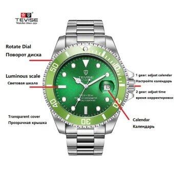 ... Green Men Watches TEVISE Automatic Mechanical Watch Luxury Brand Waterproof Luminous Men Watch Calendar Clock Relogio ...