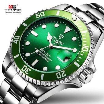 Green Men Watches TEVISE Automatic Mechanical Watch Luxury Brand Waterproof Luminous Men Watch Calendar Clock Relogio ...
