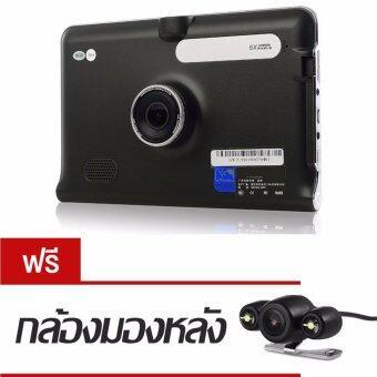GT888 GPS นำทาง + กล้องหน้า + กล้องหลังถอยจอด (สีดำ)