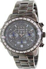 Guess นาฬิกาข้อมือผู้หญิง สีดำ สายสแตนเลส รุ่น U0016L3