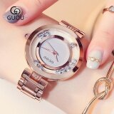 GUOU Women's Watch  Rhinestone Quartz Watch Fashionable Graceful Women's Watches Ladies Stainless Steel Wristwatch