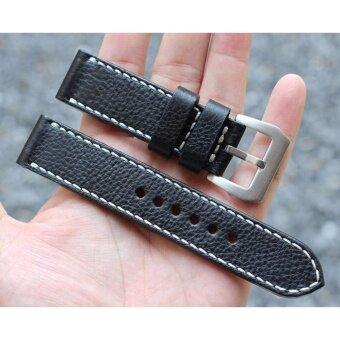 สายนาฬิกา Handmade Leather Vintage Black 20mm