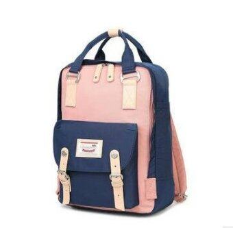 Happy Buy British Style Backpack Women Backpacks Doughnut PatchworkFashion Girls School Bags for Girls Canvas Women