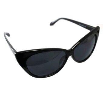 Happycat New Cat Eye Retro Fashion Sunglasses Three Colors (Black)