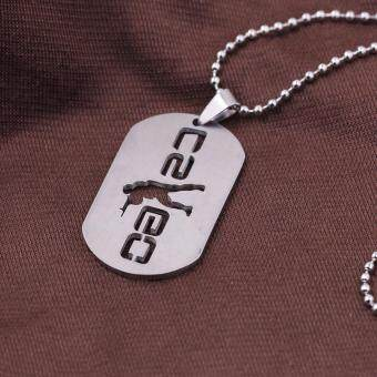 Hequ New Stainless Steel Cs Go Necklace Counter Strike Dog Tag Pendant Neckless Collier Jewelry Game - intl - 3